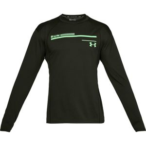 Pánske bežecké tričko Under Armour Simple Run Graphic Longsleeve Artillery Green / Green Typhoon / Reflective - M