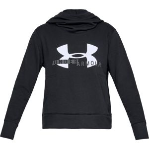 Dámska mikina Under Armour Cotton Fleece Sportstyle Logo Hoodie Black / White / Graphite - M