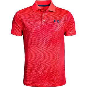Chlapčenské tričko Under Armour Performance Polo Novelty Red Rage - YL