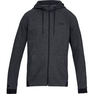 Pánska mikina Under Armour Unstoppable 2X Knit FZ Black - XXL