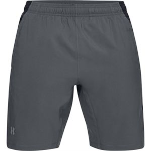 Pánske bežecké kraťasy Under Armour Launch SW 2-in-1 Long Short Pitch Gray - L