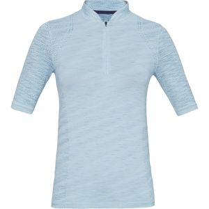 Dámske tričko s límčekom Under Armour Seamless Zip Polo Coded Blue - L