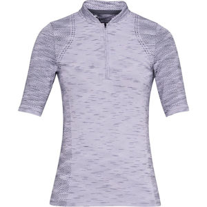 Dámske tričko s límčekom Under Armour Seamless Zip Polo Salt Purple - S