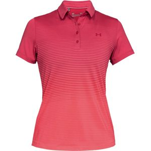 Dámske tričko Under Armour Zinger Short Sleeve Novelty Polo Impulse Pink - L