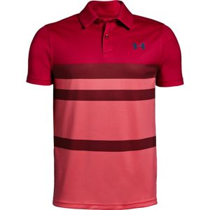 Chlapčenské tričko Under Armour Tour Tips Engineered Polo Lava - YXS