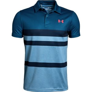 Chlapčenské tričko Under Armour Tour Tips Engineered Polo Petrol Blue - YM