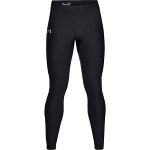 Pánske kompresné legíny Under Armour Qualifier HeatGear Glare Tight Black - S