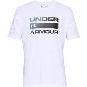 Pánske tričko Under Armour Team Issue Wordmark SS White - L