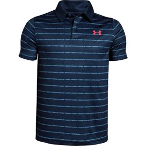 Chlapčenské tričko Under Armour Tour Tips Stripe Polo Petrol Blue - YS
