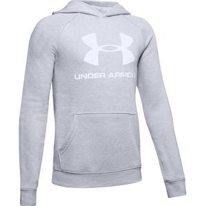 Chlapčenská mikina Under Armour Rival Logo Hoodie Mod Gray Light Heather - YXS
