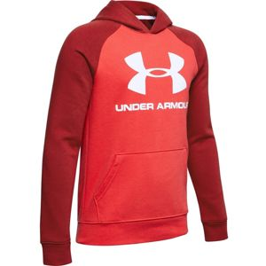Chlapčenská mikina Under Armour Rival Logo Hoodie Martian Red - YS