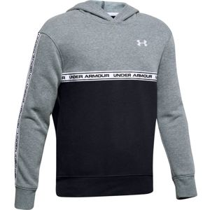 Chlapčenská mikina Under Armour SportStyle Fleece Hoodie Wire Light Heather - YM