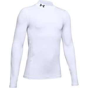 Chlapčenské tričko Under Armour ColdGear Armour Mock White - YM