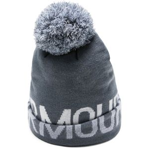 Dámska čiapka Under Armour Graphic Pom Beanie Downpour Gray - OSFA