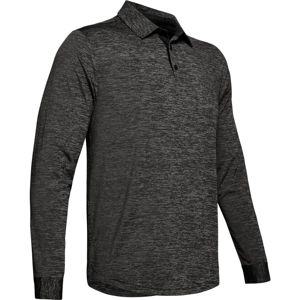 Pánske tričko Under Armour UA Long Sleeve Playoff 2.0 Polo Black - XL