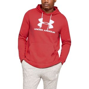 Pánska mikina Under Armour Sportstyle Terry Logo Hoodie Martian Red - XL
