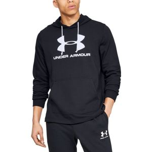 Pánska mikina Under Armour Sportstyle Terry Logo Hoodie Black - XXL
