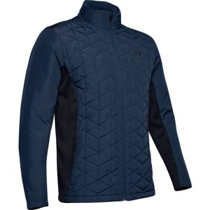 Pánska prešívaná bunda Under Armour CG Reactor Golf Hybrid Jacket Academy - M