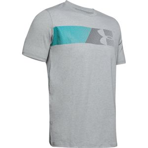 Pánske tričko Under Armour Fast Left Chest 2.0 SS Steel Light Heather - M