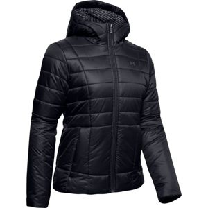 Dámska bunda Under Armour UA Armour Insulated Hooded Jkt Black - S