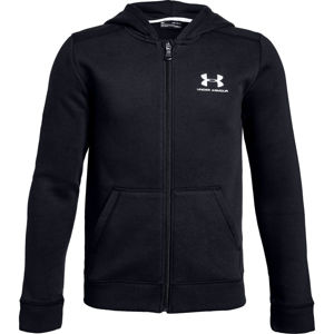 Chlapčenská mikina Under Armour Cotton Fleece Full Zip Black - YM