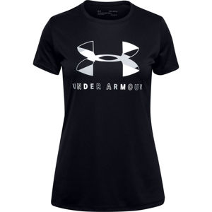 Dievčenské tričko Under Armour Tech Graphic Big Logo SS T-Shirt Black - YM
