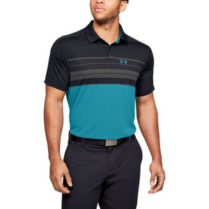 Pánske tričko Under Armour Vanish Chest Stripe Polo Black - XXL