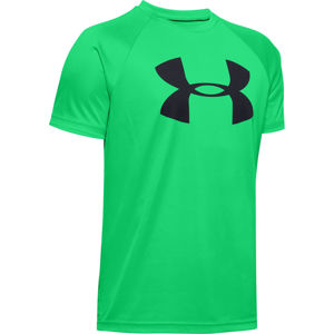 Chlapčenské tričko Under Armour Tech Big Logo SS Vapor Green - YXL