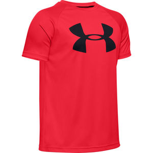 Chlapčenské tričko Under Armour Tech Big Logo SS Red - YXL