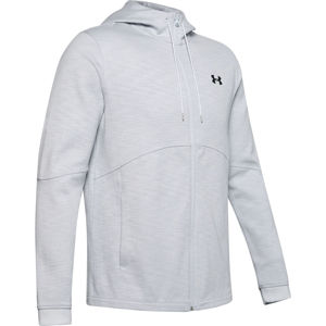 Pánska mikina Under Armour Double Knit FZ Hoodie Halo Gray - M