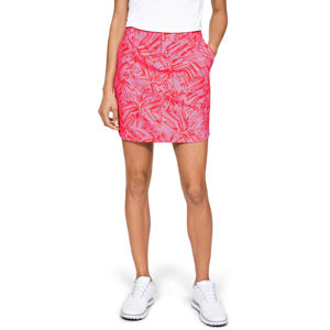 Golfová sukňa Under Armour Links Woven Printed Skort Lipstick - 12