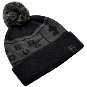 Pánska čiapka Under Armour Big Logo Pom Beanie Black - OSFA
