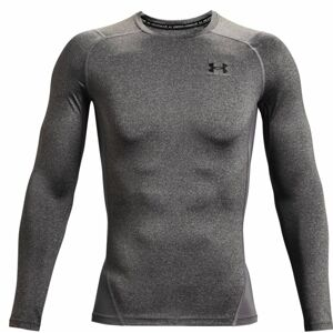 Pánske kompresné tričko Under Armour HG Armour Comp LS Carbon Heather - S