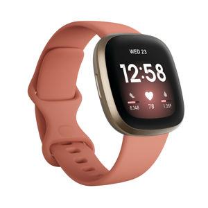 Inteligentné hodinky Fitbit Versa 3 Pink Clay/Soft Gold Aluminum