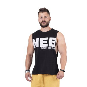 Pánske tielko Nebbia Back to the Hardcore tank top 144 Black - M
