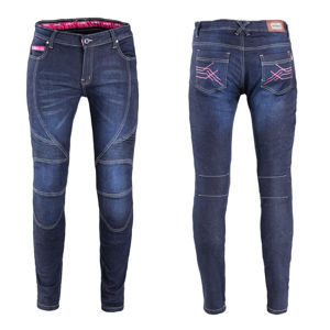 Dámske moto jeansy W-TEC Rafael modrá - 5XL