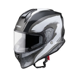 Moto prilba W-TEC Integra Graphic black-white - M (57-58)