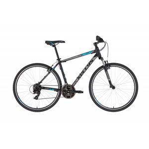 """Pánsky crossový bicykel KELLYS CLIFF 10 28"""" - model 2021 Black Blue - M (19'') - Záruka 10 rokov"""