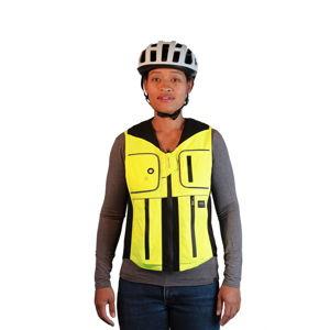 Airbagová vesta pre cyklistov Helite B'Safe zeleno-žltá - L
