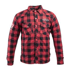 Flanelová košela s aramidom W-TEC Black Heart Reginald červeno-čierna - S