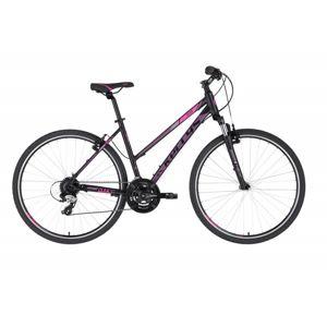 "Dámsky crossový bicykel KELLYS CLEA 30 28"" - model 2021 Black Pink - M (19'') - Záruka 10 rokov"