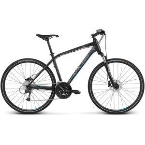 """Pánsky crossový bicykel Kross Evado 6.0 28"""" - model 2020 čierno-modrá - XL (23"""") - Záruka 10 rokov"""