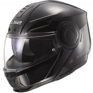 Výklopná moto prilba LS2 FF902 Scope Solid Gloss Black - XL (61-62)