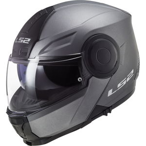 Výklopná moto prilba LS2 FF902 Scope Solid Matt Titanium Matt Titanium - XL (61-62)