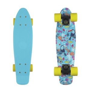 "Pennyboard Fish Print 22"" Tucans-Black-Yellow"