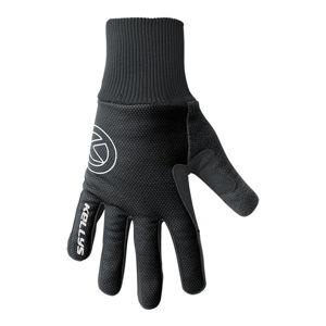 Zimné cyklistické rukavice Kellys Frosty New čierna - S