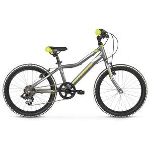 """Detský bicykel Kross Hexagon Mini 1.0 20"""" - model 2021 Graphite / Lime / Silver Glossy - 11"""" - Záruka 10 rokov"""