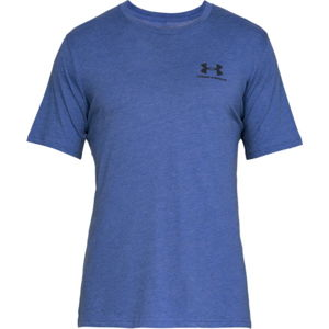 Pánske tričko Under Armour Sportstyle Left Chest SS Royal Medium Heather /  / Black - L