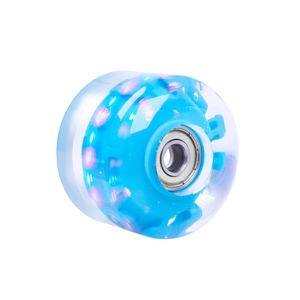 Svietiace koliesko na skateboard PU 50*36 mm s ABEC 5 ložiskami modrá