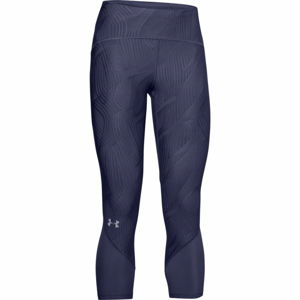 Dámske kompresné 3/4 legíny Under Armour W Fly Fast Jacquard Crop Blue Ink - L